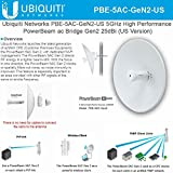 Ubiquiti PowerBeam ac Gen2 High-Performance airMAX ac Bridge (PBE-5AC-Gen2-US)