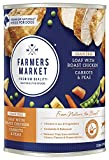 Farmers Market Pet Food Premium Natural Grain-Free Canned Wet Dog Food, 13.8 oz Can, Roast Chicken with Carrots & Peas Loaf (Case of 12)