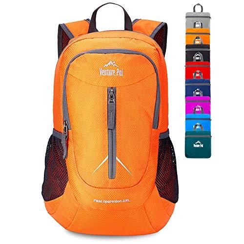Venture Pal 25L - Durable Packable Lightweight Travel Hiking Backpack Daypack Small Bag for Men Women (Orange)