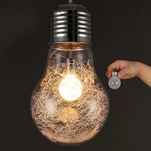 Zantec Lampada lampadari con lampadario a LED a forma di lampadario Lampada a sospensione a soffitto in vetro per KTV,Discoteca,Festa,Natale,Bar, ecc