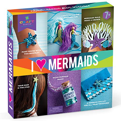 Crafttastic  I Love Mermaids Kit  Craft Kit Includes 6 MermaidThemed Projects