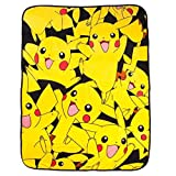 (US) BIOWORLD Pokémon Pikachu All Over Print Fleece Throw Blanket, 48