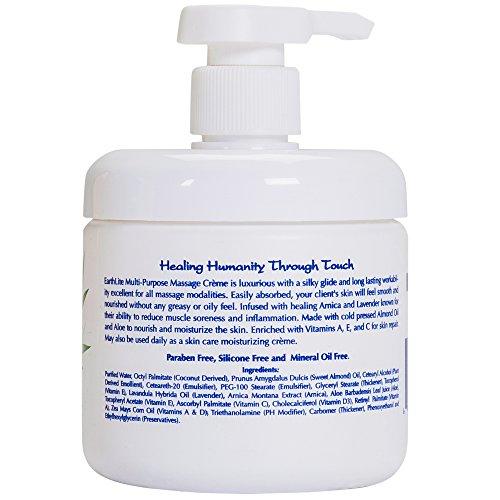 EARTHLITE Professional Massage Cream - Multi Purpose Arnica & Lavendar Massage Cream, Paraben Free by EARTHLITE (Image #3)