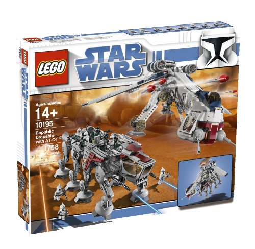 LEGO Star Wars Republic Dropship with AT-OT Walker - Lego Star Wars Clone Gunship