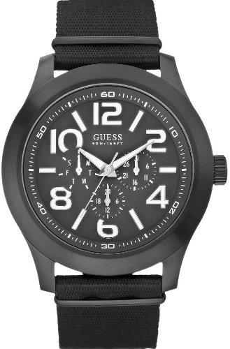 W11623G1 Guess Rugged Black Fabric Chronograph Mens Watch
