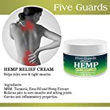 Hemp Extract Pain Relief Cream 56000 Mg- Hemp Cream with EMU oil, Turmeric, Frankincense MSM and Hemp, Relieves inflammation, Muscle, Joint, Back, Knee, Nerves & Arthritis Pain - Made in USA