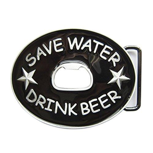 New Save Water Drink Beer Bottle Opener Vintage Belt Buckle (Beer Belt Buckle Bottle Opener)