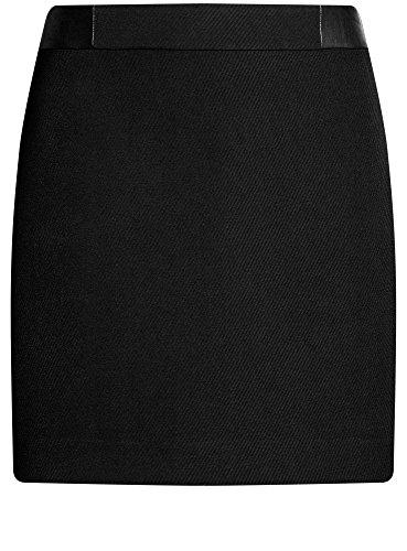 Jupe oodji Courte Ultra Finition 2900n Noir en Similiuir Femme aqvEwtprq