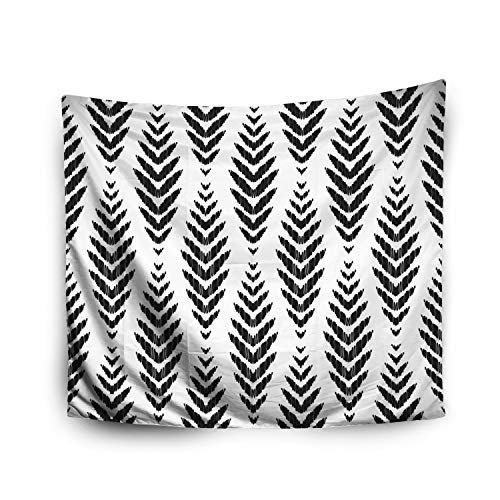 Crannel Halloween Herringbone Pattern Home Decor Ideas Fashion Ikat Chevron Wallpaper Textile Decoration Tapestry 50x60 Inches Wall Art Tapestries Hanging for Dorm Room Living Home Decorative ()