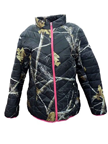 Realtree-Womens-Black-Pink-Camouflage-Coat-Lightweight-Camo-Jacket
