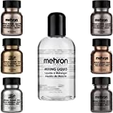 Mehron Makeup Holiday Shimmer Gift Set (6 Metallic Powders) (Mixing Liquid Included)