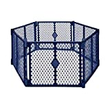 'Superyard Colorplay 8-Panel' by North States: Freestanding, portable play yard to keep children safe indoors or outdoors. Freestanding. 256' length, 34.4 sq. ft. enclosure (26' tall, Multicolor)