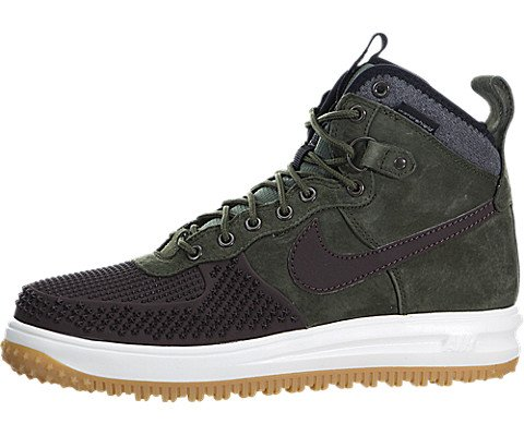 Nike Mens Lunar Force 1 Duckboot Sneaker Boot Baroque Brown/Black/Army Olive 805899-200 Size 8 (Nike Shoes Lunar Men)
