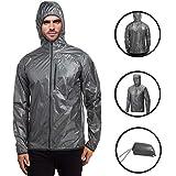 Daupanzees Unisex Lightweight Hooded Waterproof Running Cycling Rain Jacket Outdoor Raincoat
