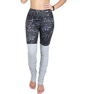 1502546c28 Manzocha Women Double Candy Color Block Stretch Tight Sport Active Yoga  Leggings
