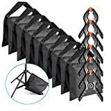 Neewer 8-Pack Heavy Duty Sandbag (Black) for Photo Studio Light Stands Boom Arms with 6-Pack Muslin Backdrop Spring Clamps Clips (Empty Sandbag)
