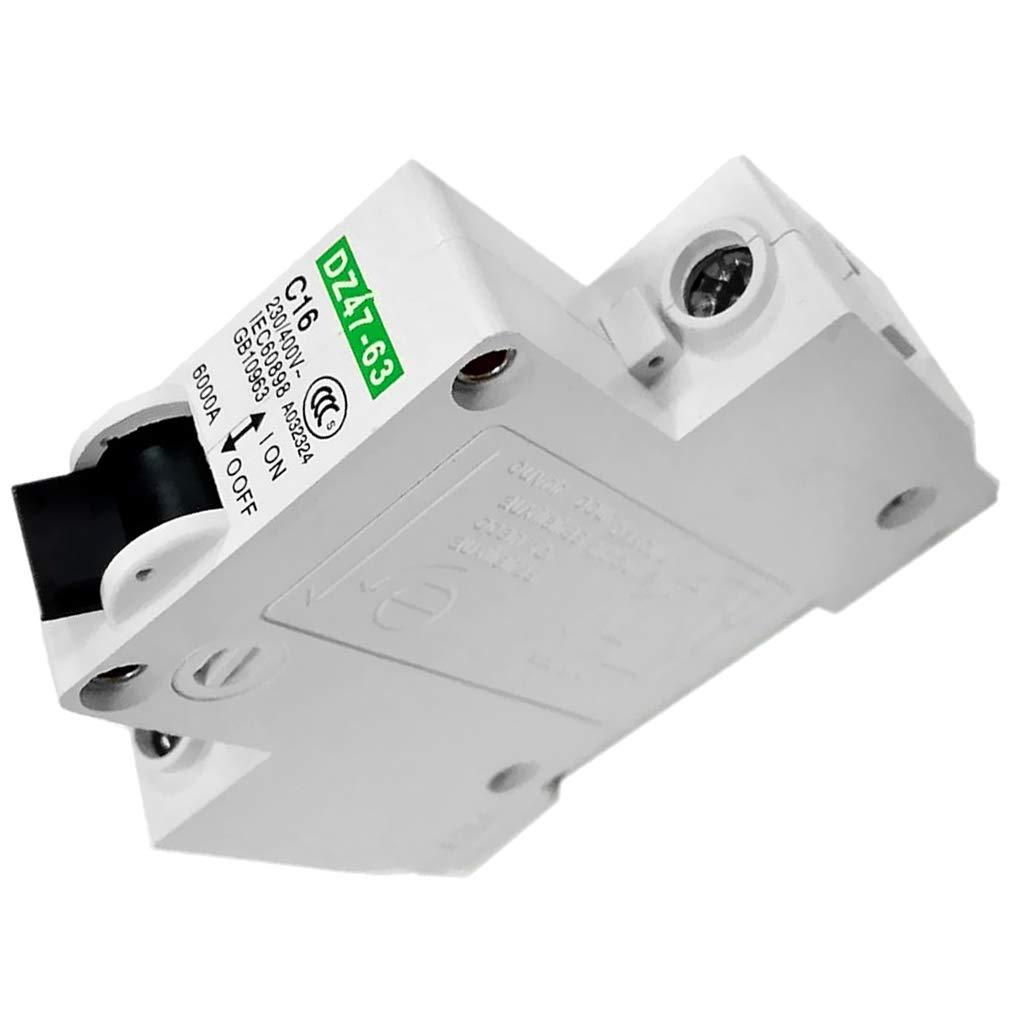 16A F Fityle 2 St/ück Leistungsschalter 32A 1-polig AC 230 V // 400 V