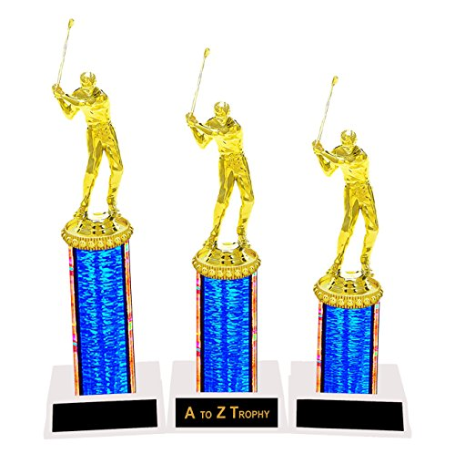 Trophies Golf Trophy 1st 2nd 3rd Place Tournament Golfing Sports Awards Free Engraving Color Choice Male or Female