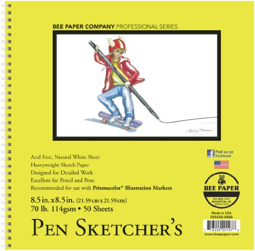 UPC 718224201478, Bee Paper Company Pen Sketchers Pad, 8.5 by 8.5-Inch