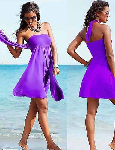 pwne Diseñador De Moda Mayorista Caliente Vintage 2015 Convertible Multi-Wear Crochet Playa Encubrir S.M.L.Xl Purple