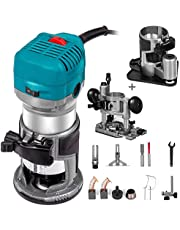 Mophorn 1.25HP Compact Router Kit Max Torque Variable Speed 30,000RPM Router Woodworking for Wood Processing & Furniture Manufacturing