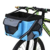 Lixada Bicycle Handlebar Basket Bike Front Bag Box Pet Dog Cat Carrier Pet
