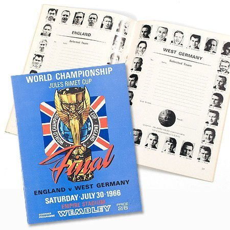 England vs West Germany World Cup Finals at Wembley Program - July 30, 1966 - One Size