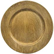 Faux Wood Charger Plates in Grey or Gold set of 4