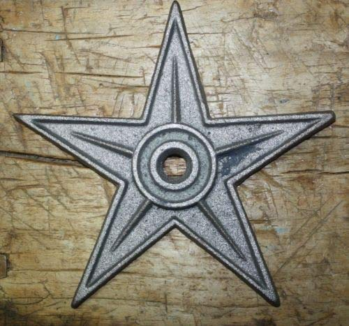 Architectural Star - JumpingLight 5 LG Cast Iron Stars Architectural Stress Washer Texas Lone Star Rustic Ranch 9'', Cast Iron Decor for Vintage Industrial Home Accessory Decorative Gift