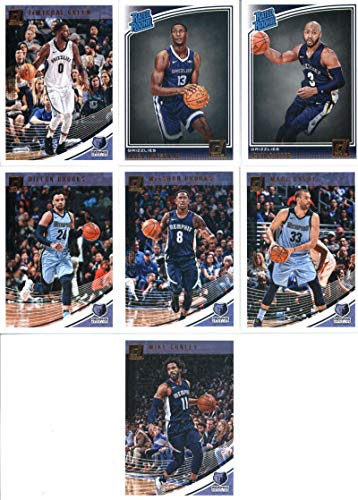 2018-19 Donruss Basketball Memphis Grizzlies Team Set of 7 Cards: (Rookies included) Mike Conley(#104), MarShon Brooks(#114), Dillon Brooks(#124), JaMychal Green(#134), Marc Gasol(#144), Jevon Carter(#169), Jaren Jackson Jr.(#188) Panini