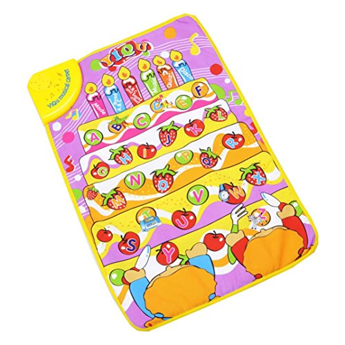 Gotd Musical Mat Touch Play Keyboard Musical Music Singing Carpet Mat Kids Baby Toy Gift