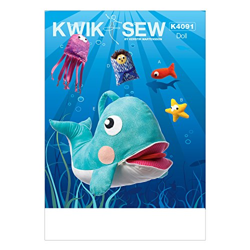 KWIK-SEW PATTERNS K4091 Jonah and Whale Toy, One Size (Appliqued Fish)