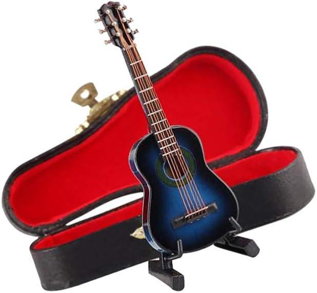 Amosfun - Guitarra Mini de Madera Falsa, Modelo de Guitarra ...