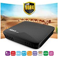 K&A Company Box Smart Tv Media Player Android Core Quad Wifi 1080p Amlogic 7.1 US Plug in Black
