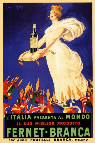 WONDERFULITEMS FERNET BRANCA ITALY PRESENTS TO THE WORLD BEST PRODUCT BITTER DRINK WOMAN QUEEN IN WHITE DRESS 16