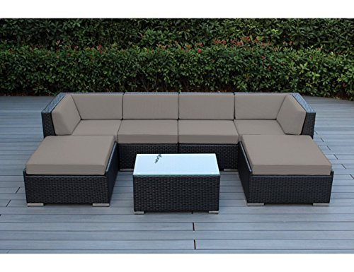 Ohana 7 Piece Outdoor Patio Furniture Sectional