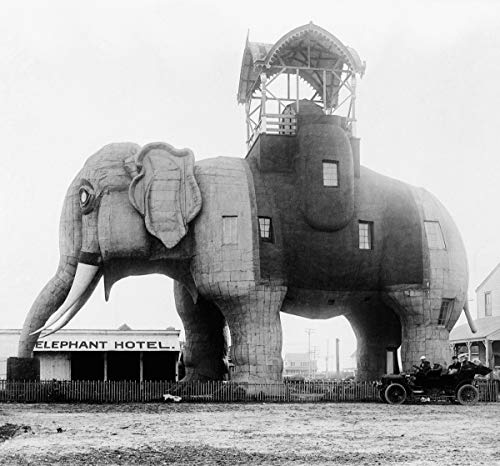 USA New Jersey Margate City Lucy the Elephant National Historic Landmark Poster Photo Printed on Glossy Photographic Heavy Print Paper (Size: 8.5
