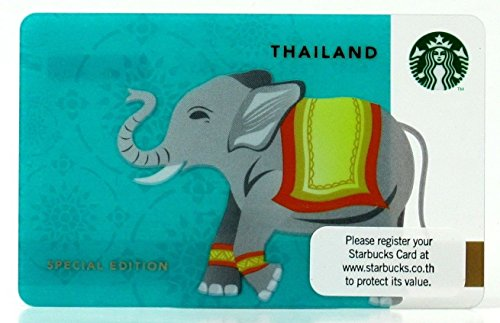 Starbucks Thailand Elephant 15th Thai Anniversary Gift Card 2013 Limited Edition