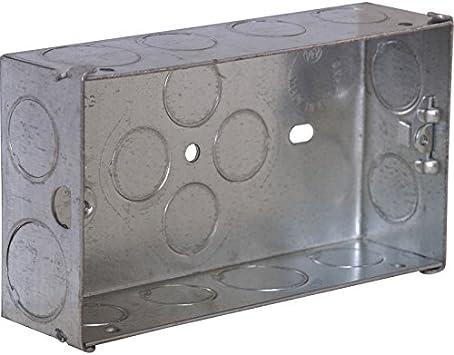 Caja metálica 2 GANG 2 Gang 35 mm: Amazon.es: Bricolaje y herramientas