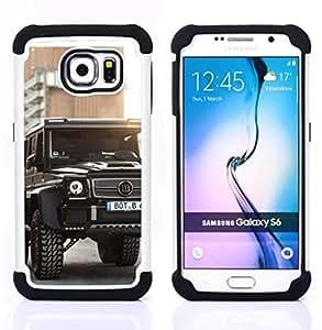 """Samsung Galaxy S6 / SM-G920 - 3 en 1 impreso colorido de Altas Prestaciones PC Funda chaqueta Negro cubierta gel silicona suave (Brutal Brab Merc GL"""")"""