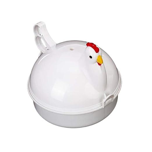 Cocina bollos 4 huevos de microondas Forma Gallo de plástico ...