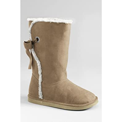 aa6b8ff942f Lands  End Girls  Lindsey High Shearling Boots with Back Lace
