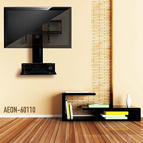 swiveling tv wall mount with shelf shelves buy online. Black Bedroom Furniture Sets. Home Design Ideas