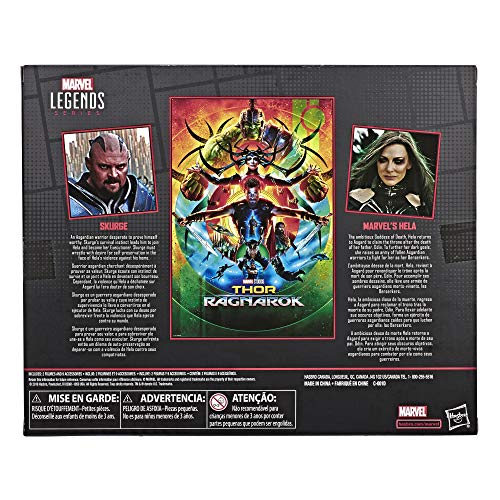 """Marvel Legends Series Thor: Ragnarok 6""""-Scale Movie-Inspired Skurge & Marvel's Hela Collectible Action Figure 2 Pack"""