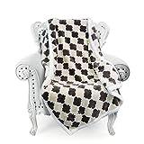 Napa Super Soft Moroccan Fleece Throw Blanket Brown, Lightweight Couch Blanket, Super Warm