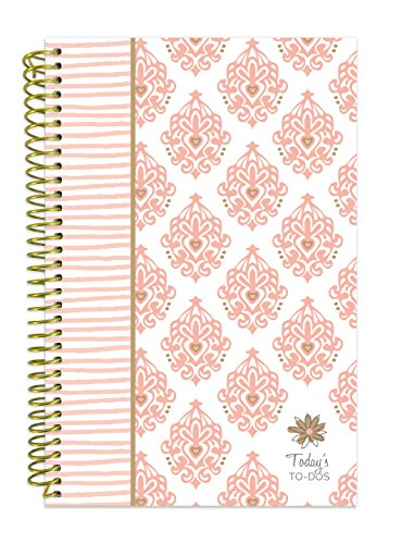 bloom daily planners Bound To-Do List Book - UNDATED Daily Planning System Tear Off Calendar Pages - 6 x 8.25 - Pink & Gold