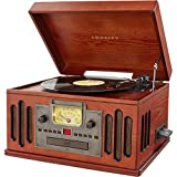 crosley turntable cd mp3 - Crosley CR704D-PA Musician 3-Speed Turntable with Radio, CD/Cassette Player, Aux-In and Bluetooth, Paprika