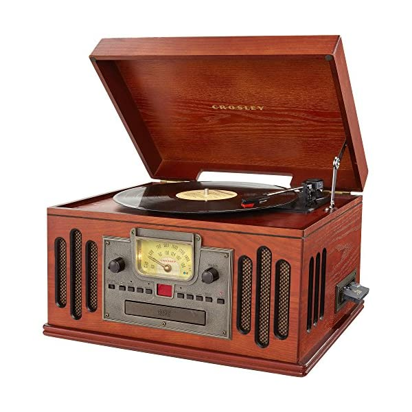 Crosley Musician Turntable with Radio, CD Player, Cassette and Aux-in 3