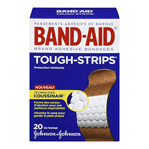 Bandages Extra Large Tough Strips - Band-Aid Tough Strips Adhesive Bandages All One Size - 20 ct, Pack of 6