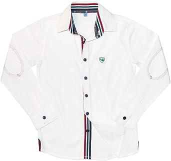 Trasluz Camisa Blanca Manga Larga para Niño Talla 16 Años, Color Blanco: Amazon.es: Ropa y accesorios